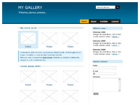 Gallery blue template