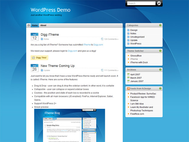 Free WordPress themes for download