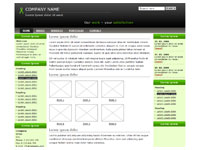 Template Three columns green – thumbnail