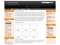 Template Three columns orange – thumbnail